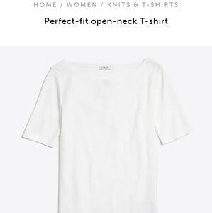 J Crew Perfect Fit Open Neck T- Shirt